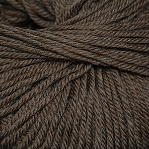Skein of Cascade 220 Superwash Worsted weight yarn in the color Walnut Heather (Brown) for knitting and crocheting.