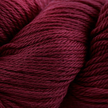 Load image into Gallery viewer, Skein of Cascade 220 Worsted weight yarn in the color Burgundy (Red) for knitting and crocheting.