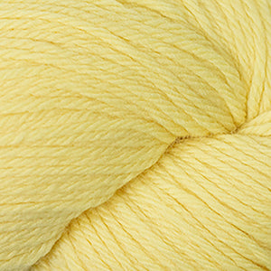 Skein of Cascade 220 Worsted weight yarn in the color Butter (Yellow) for knitting and crocheting.