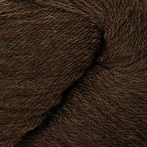 Skein of Cascade 220 Worsted weight yarn in the color Chocolate Heather (Brown) for knitting and crocheting.