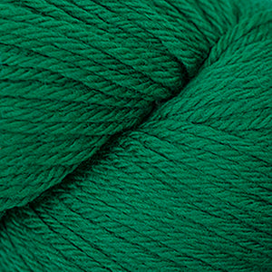 Skein of Cascade 220 Worsted weight yarn in the color Christmas Green (Green) for knitting and crocheting.