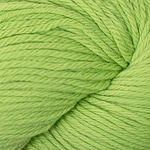 Skein of Cascade 220 Worsted weight yarn in the color Citron (Green) for knitting and crocheting.