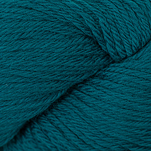 Skein of Cascade 220 Worsted weight yarn in the color Como Blue (Blue) for knitting and crocheting.