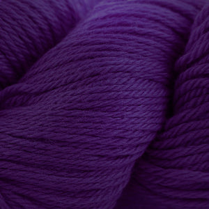 Skein of Cascade 220 Worsted weight yarn in the color Concord Grape (Purple) for knitting and crocheting.