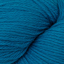 Load image into Gallery viewer, Skein of Cascade 220 Worsted weight yarn in the color Cyan Blue (Blue) for knitting and crocheting.