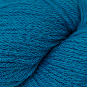Skein of Cascade 220 Worsted weight yarn in the color Cyan Blue (Blue) for knitting and crocheting.