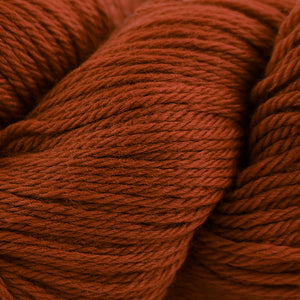 Skein of Cascade 220 Worsted weight yarn in the color Ginger (Orange) for knitting and crocheting.