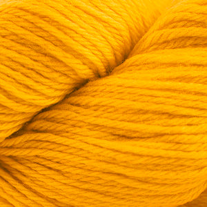 Skein of Cascade 220 Worsted weight yarn in the color Gold Fusion (Yellow) for knitting and crocheting.