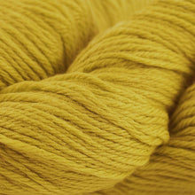 Load image into Gallery viewer, Skein of Cascade 220 Worsted weight yarn in the color Goldenrod (Yellow) for knitting and crocheting.