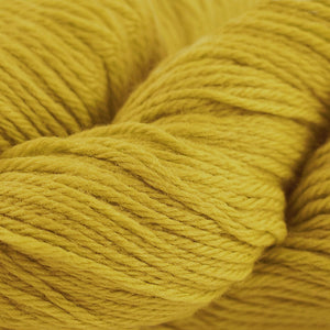 Skein of Cascade 220 Worsted weight yarn in the color Goldenrod (Yellow) for knitting and crocheting.