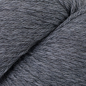 Skein of Cascade 220 Worsted weight yarn in the color Greystone Heather (Gray) for knitting and crocheting.