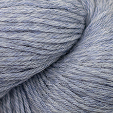 Load image into Gallery viewer, Skein of Cascade 220 Worsted weight yarn in the color Indigo Frost Heather (Gray) for knitting and crocheting.