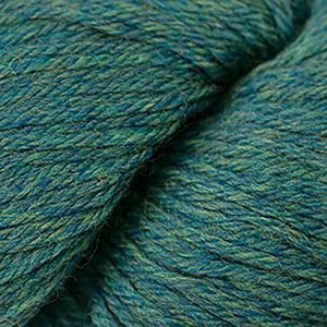 Skein of Cascade 220 Worsted weight yarn in the color Lake Chelan Heather (Green) for knitting and crocheting.