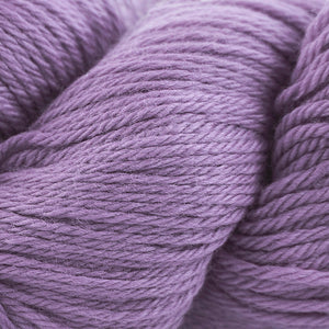 Skein of Cascade 220 Worsted weight yarn in the color Lilac Mist (Purple) for knitting and crocheting.