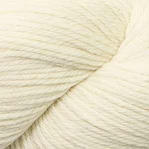 Skein of Cascade 220 Worsted weight yarn in the color Natural (Cream) for knitting and crocheting.