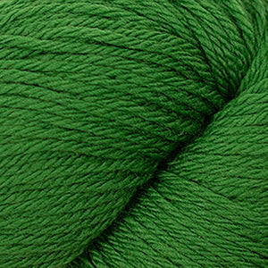 Skein of Cascade 220 Worsted weight yarn in the color Palm (Green) for knitting and crocheting.