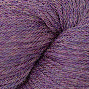 Skein of Cascade 220 Worsted weight yarn in the color Petunia Heather (Purple) for knitting and crocheting.