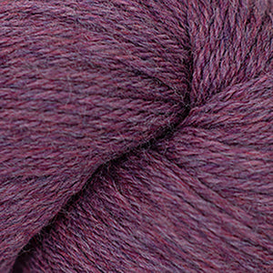 Skein of Cascade 220 Worsted weight yarn in the color Razzleberry Heather (Pink) for knitting and crocheting.