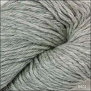 Skein of Cascade 220 Worsted weight yarn in the color Silver Grey (Gray) for knitting and crocheting.