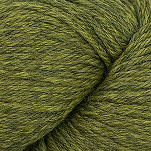 Skein of Cascade 220 Worsted weight yarn in the color Turtle (Green) for knitting and crocheting.
