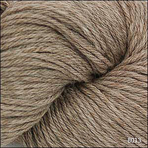 Skein of Cascade 220 Worsted weight yarn in the color Walnut Heather (Brown) for knitting and crocheting.
