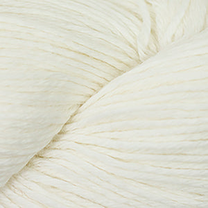 Skein of Cascade 220 Worsted weight yarn in the color White (White) for knitting and crocheting.
