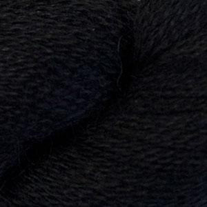 Skein of Cascade Alpaca Lace Lace weight yarn in the color Black (Black) for knitting and crocheting.