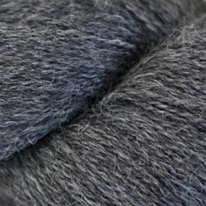 Skein of Cascade Alpaca Lace Lace weight yarn in the color Charcoal (Gray) for knitting and crocheting.