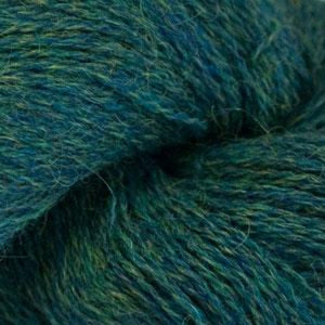 Skein of Cascade Alpaca Lace Lace weight yarn in the color Chelan Heather (Blue) for knitting and crocheting.