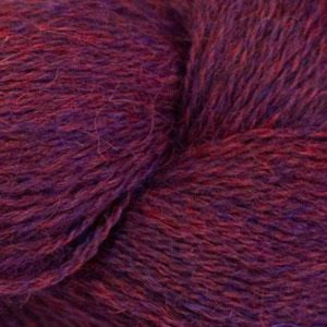 Skein of Cascade Alpaca Lace Lace weight yarn in the color Chianti Heather (Blue) for knitting and crocheting.