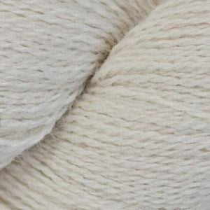 Skein of Cascade Alpaca Lace Lace weight yarn in the color Ecru (Cream) for knitting and crocheting.