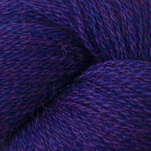 Load image into Gallery viewer, Skein of Cascade Alpaca Lace Lace weight yarn in the color Petunia Heather (Purple) for knitting and crocheting.