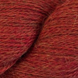 Skein of Cascade Alpaca Lace Lace weight yarn in the color Provence (Red) for knitting and crocheting.