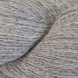 Skein of Cascade Alpaca Lace Lace weight yarn in the color Silver (Gray) for knitting and crocheting.