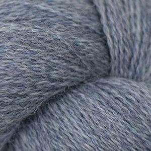 Skein of Cascade Alpaca Lace Lace weight yarn in the color Stonewash Heather (Blue) for knitting and crocheting.