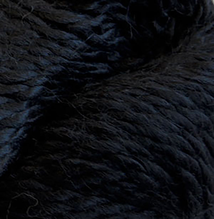 Skein of Cascade Baby Alpaca Chunky Bulky weight yarn in the color Black (Black) for knitting and crocheting.