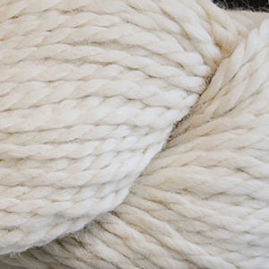 Skein of Cascade Baby Alpaca Chunky Bulky weight yarn in the color Ecru (Cream) for knitting and crocheting.