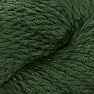 Skein of Cascade Baby Alpaca Chunky Bulky weight yarn in the color Elm (Green) for knitting and crocheting.