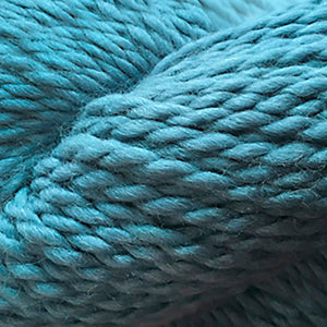 Skein of Cascade Baby Alpaca Chunky Bulky weight yarn in the color Green Blue Slate (Blue) for knitting and crocheting.