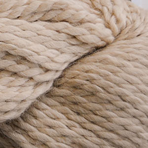 Skein of Cascade Baby Alpaca Chunky Bulky weight yarn in the color Linen (Tan) for knitting and crocheting.
