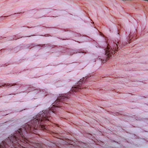 Skein of Cascade Baby Alpaca Chunky Bulky weight yarn in the color Petal Bloom (Pink) for knitting and crocheting.