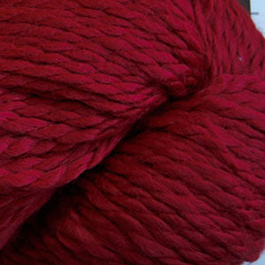 Skein of Cascade Baby Alpaca Chunky Bulky weight yarn in the color Ruby (Red) for knitting and crocheting.