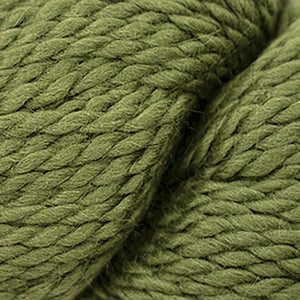 Skein of Cascade Baby Alpaca Chunky Bulky weight yarn in the color Turtle (Green) for knitting and crocheting.