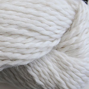 Skein of Cascade Baby Alpaca Chunky Bulky weight yarn in the color White (White) for knitting and crocheting.