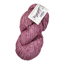 Load image into Gallery viewer, Skein of Cascade Cantata Worsted weight yarn in the color Berry (Purple) for knitting and crocheting.
