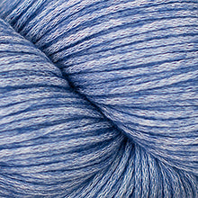 Load image into Gallery viewer, Skein of Cascade Cantata Worsted weight yarn in the color Blue (Blue) for knitting and crocheting.