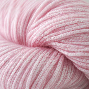 Skein of Cascade Cantata Worsted weight yarn in the color Pink (Pink) for knitting and crocheting.