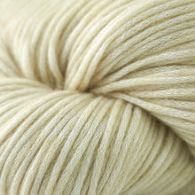 Load image into Gallery viewer, Skein of Cascade Cantata Worsted weight yarn in the color Sand (Cream) for knitting and crocheting.