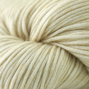 Skein of Cascade Cantata Worsted weight yarn in the color Sand (Cream) for knitting and crocheting.