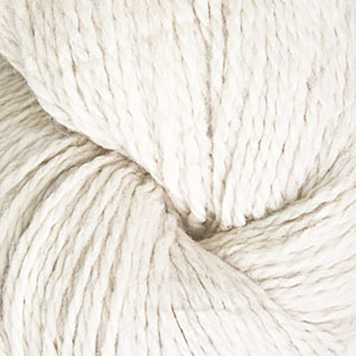 Skein of Cascade Ecological Wool Bulky weight yarn in the color Ecru (Cream) for knitting and crocheting.